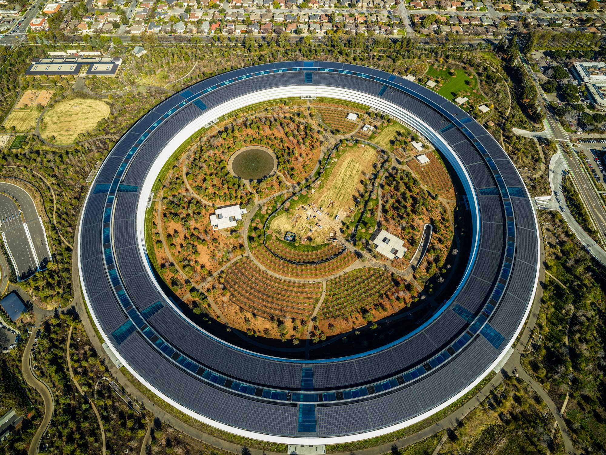 apple HQ aerial